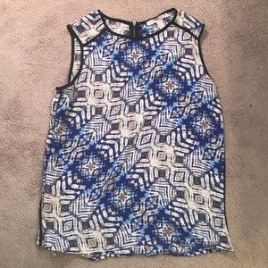 Forever 21 Contemporary Blue/Taupe Dressy Top
